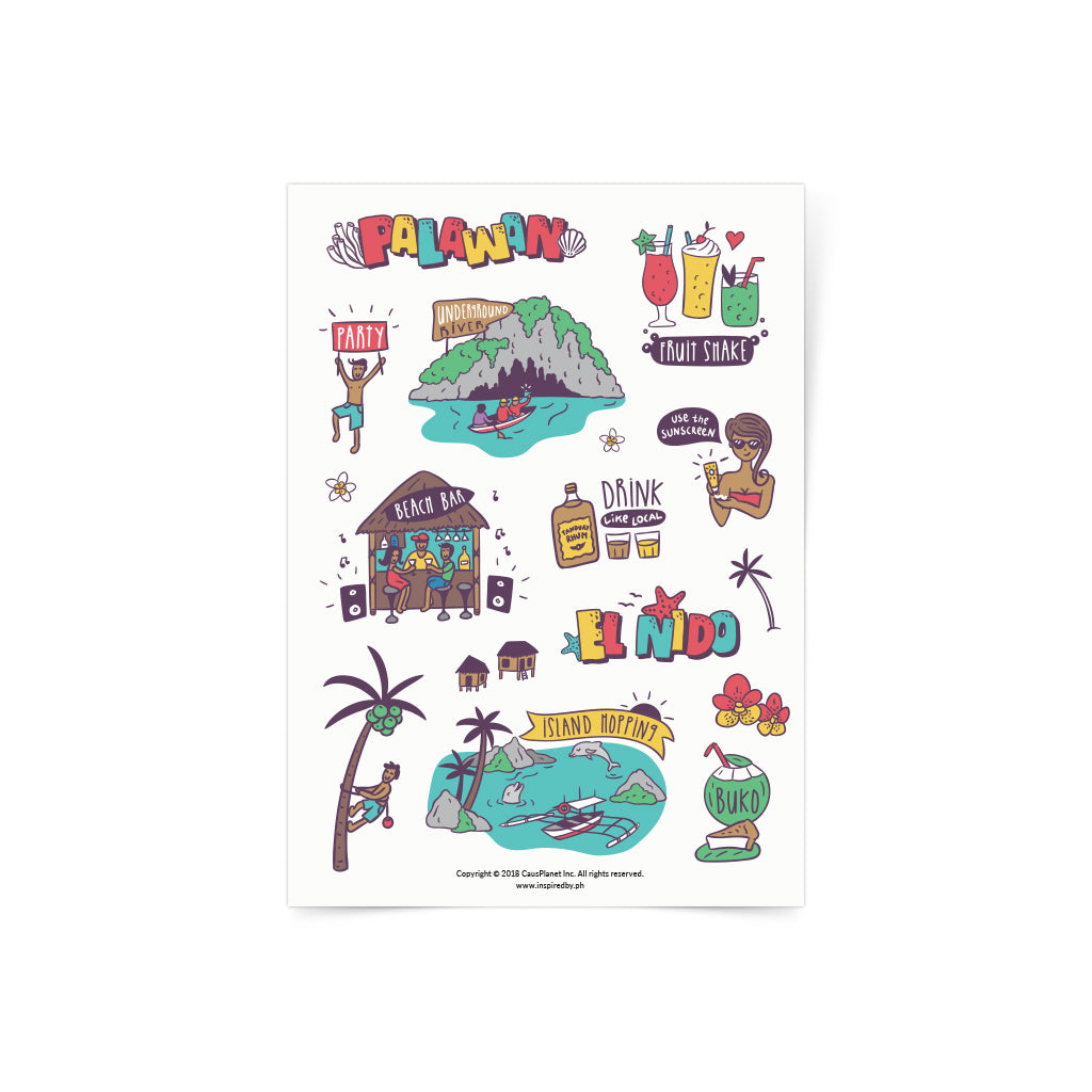 Travel Palawan Sticker Sheet