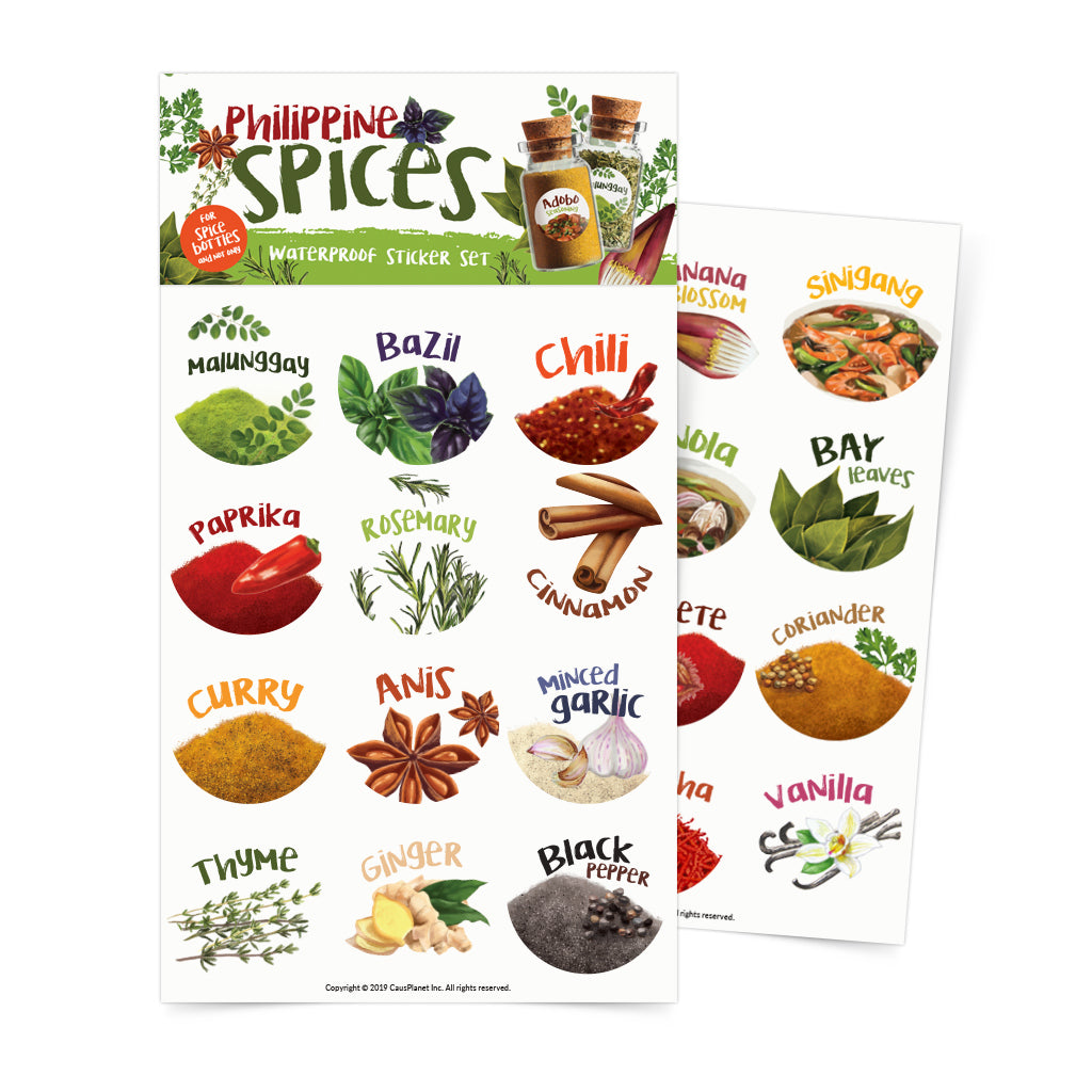 Philippine Spices Sticker Sheets Set Of 2