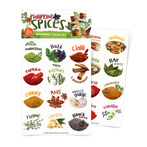Philippine Spices Sticker Sheets Set Of 2 Philippine