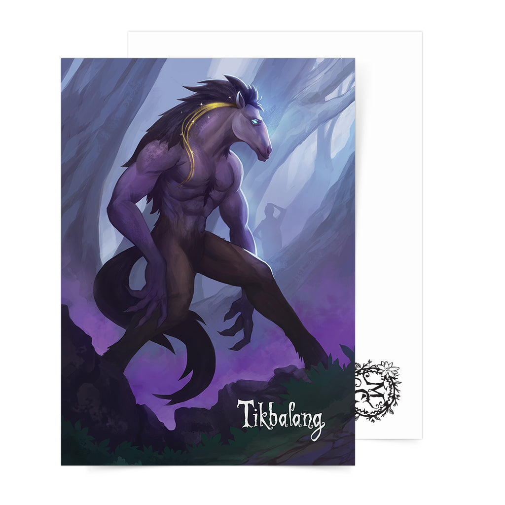 Philippine mythology mythical creature supernatural pinoy legend art fantasy myth spirit nature collectible mail postcrossing Folklore Tigbalang Tikbalan Tigbolan Werehorse