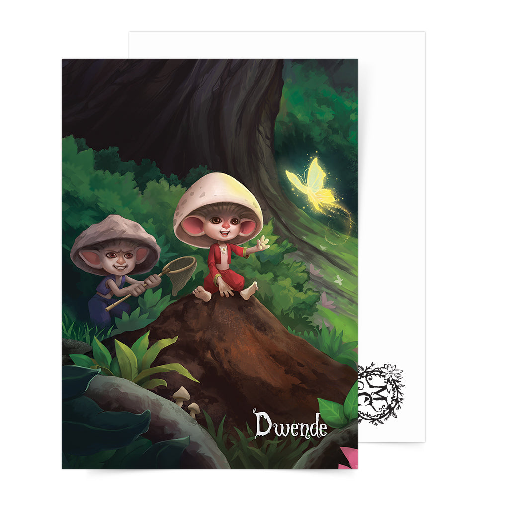 Philippine mythology mythical creature supernatural pinoy legend art fantasy myth spirit nature collectible mail postcrossing Folklore Duende tabi tabi po goblin elf ghost dwarf forest