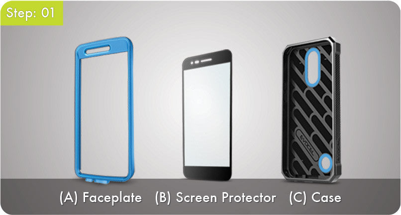 Step 1 - There are a total of three pieces to the case.