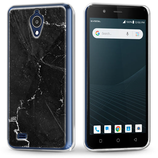 Evocel AT&T Axia / Cricket Wireless Vision Iconic Series Black Marble Case