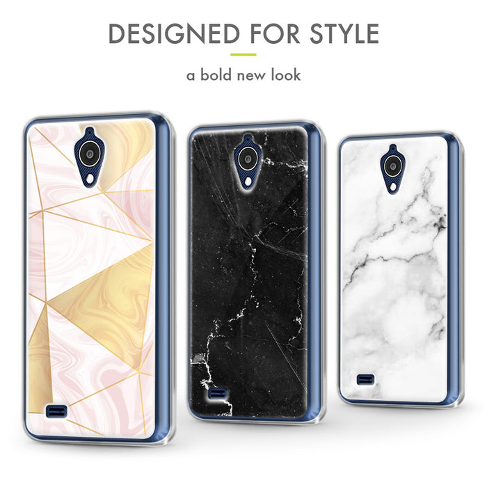 Evocel AT&T Axia / Cricket Wireless Vision Iconic Series White Marble Case