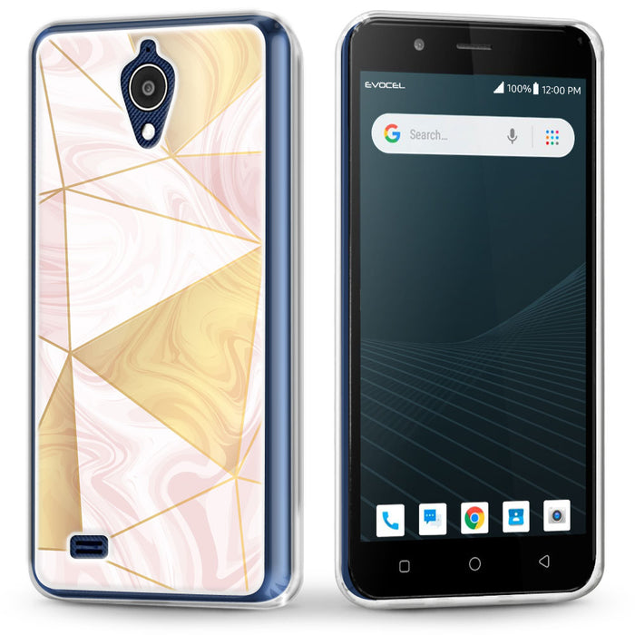 Evocel AT&T Axia / Cricket Wireless Vision Iconic Series Geometric Rose Gold Case