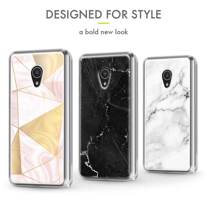 Evocel Alcatel 1X Evolve Iconic Series Black Marble Case