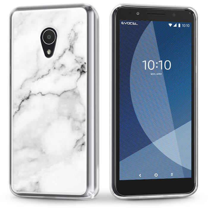 Evocel Alcatel 1X Evolve Iconic Series White Marble Case