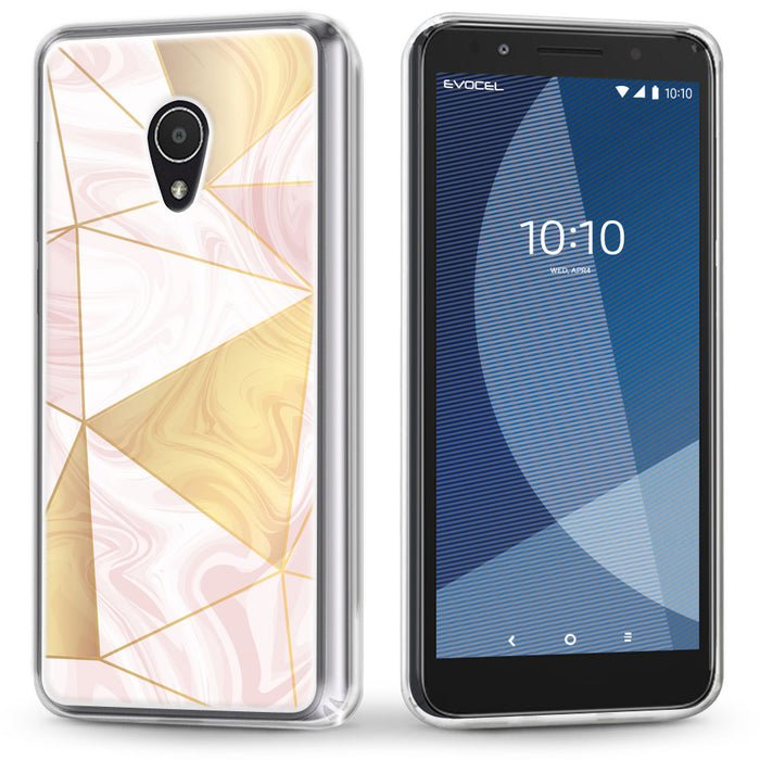 Evocel Alcatel 1X Evolve Iconic Series Geometric Rose Gold Case