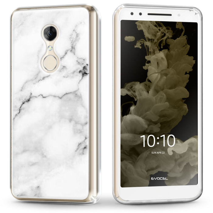 Evocel Alcatel T-Mobile REVVL 2 / Alcatel 3 (2018) Iconic Series White Marble Case