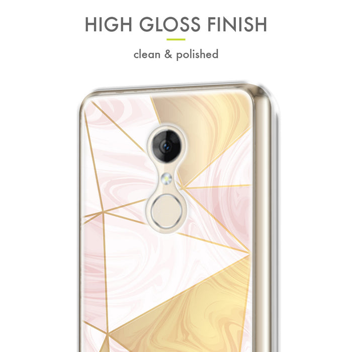 Evocel Alcatel T-Mobile REVVL 2 / Alcatel 3 (2018) Iconic Series Geometric Rose Gold Case