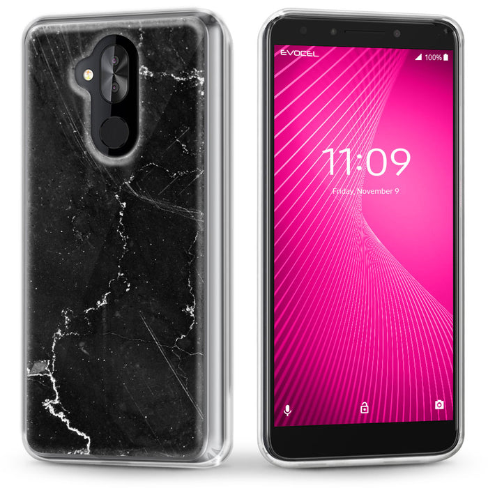 Evocel Alcatel T-Mobile REVVL 2 Plus / Alcatel 7 Folio Iconic Series Black Marble Case