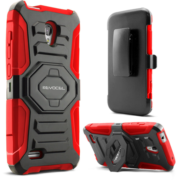 Evocel Alcatel Conquest New Generation Series Red Case