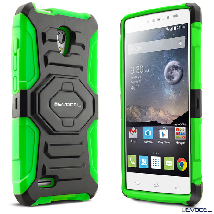Evocel Alcatel Conquest New Generation Series Green Case