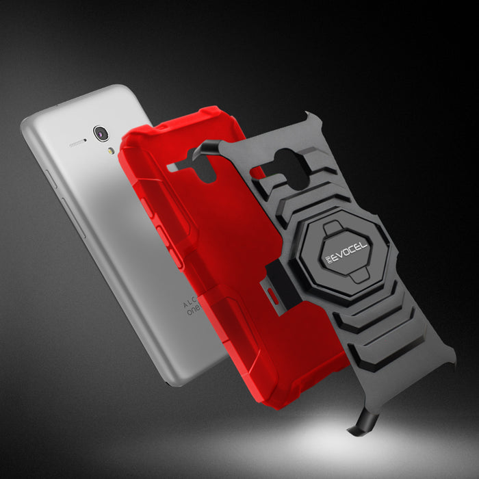 Evocel Alcatel Fierce XL New Generation Series Red Case