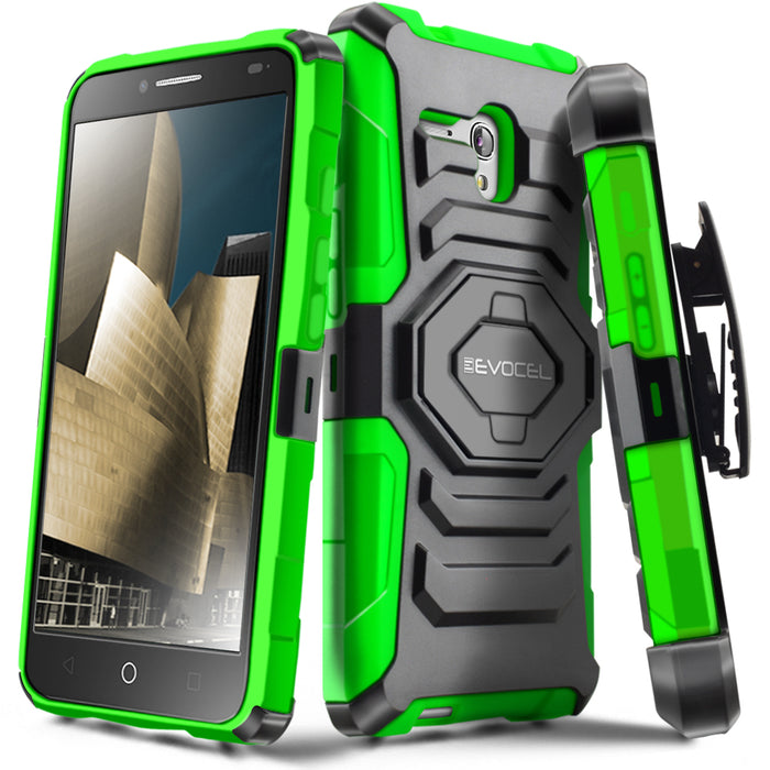 Evocel Alcatel Fierce XL New Generation Series Green Case