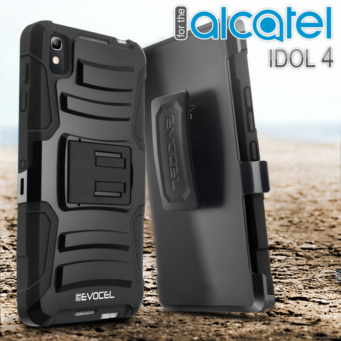 Evocel Alcatel Idol 4 Generation Series Black Case