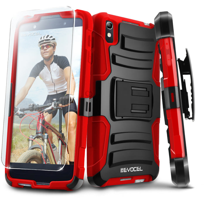 Evocel Alcatel Idol 4 Generation Series Red Case