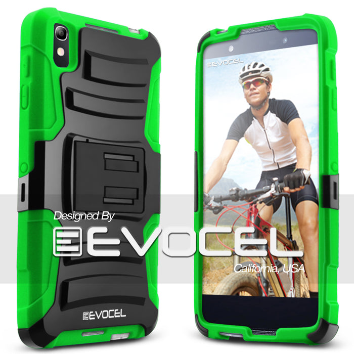 Evocel Alcatel Idol 4 Generation Series Green Case