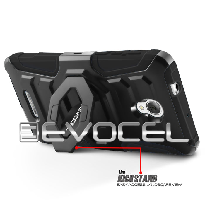 Evocel Alcatel Fierce 4 New Generation Series Black Case