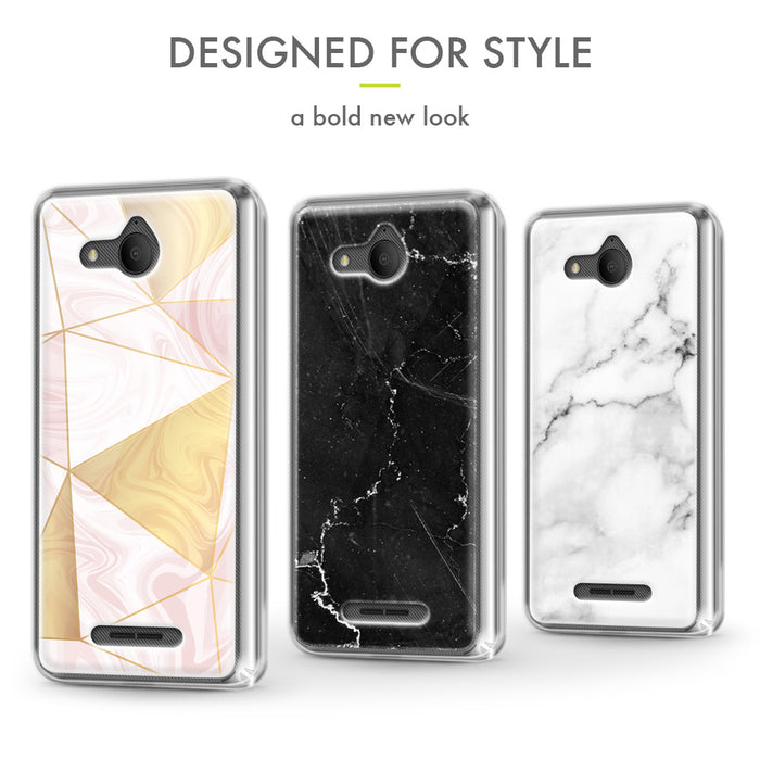 Evocel Alcatel TETRA Iconic Series White Marble Case