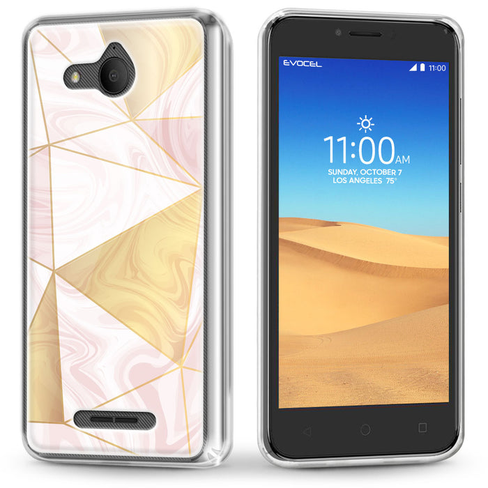Evocel Alcatel TETRA Iconic Series Geometric Rose Gold Case