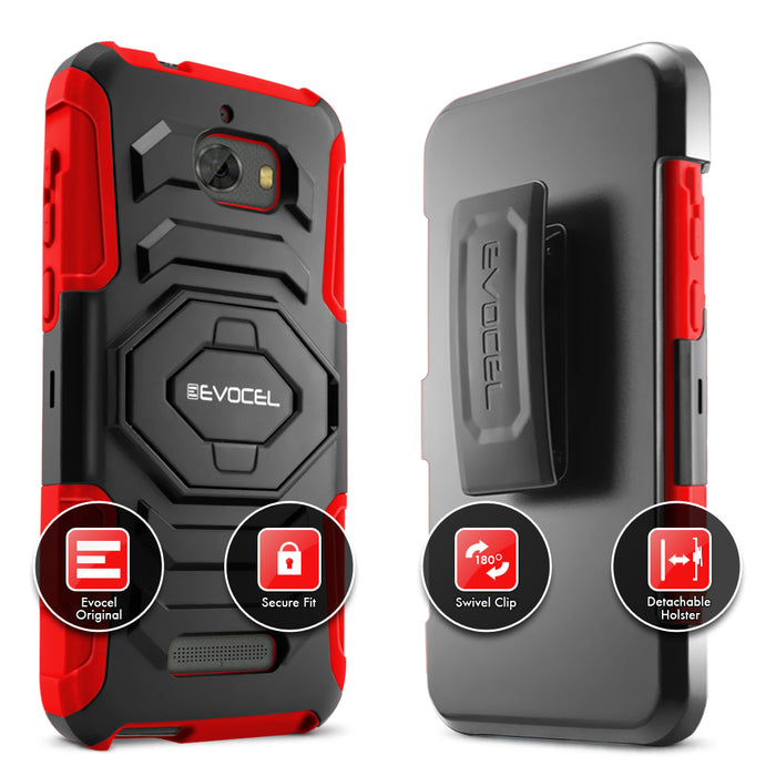Evocel Coolpad Defiant New Generation Series Red Case