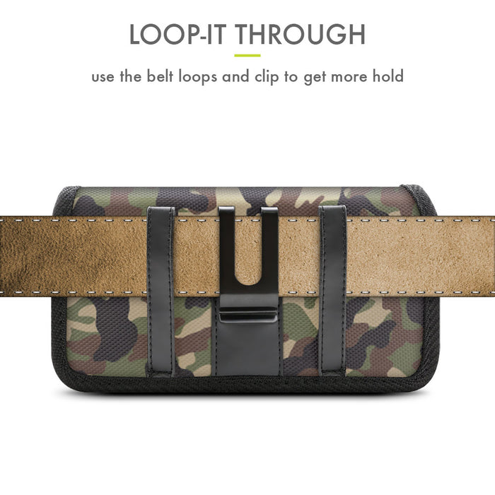 Evocel Urban Pouch Pro Military Camouflage Belt Loop Case with Metal Clip - Large