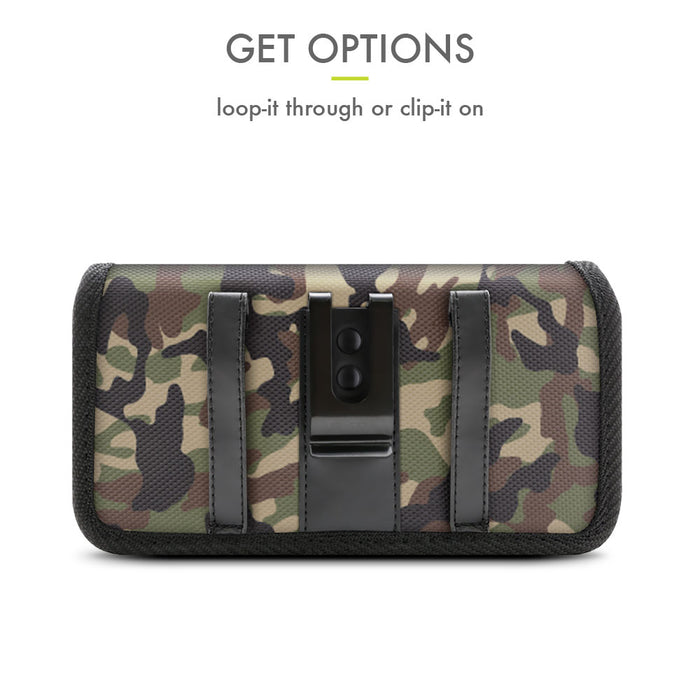 Evocel Urban Pouch Pro Military Camouflage Belt Loop Case with Metal Clip - Extra Large
