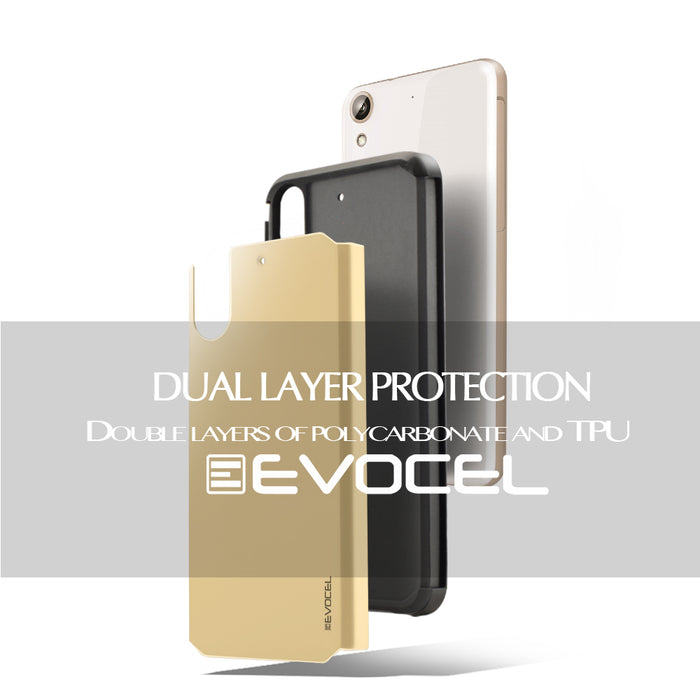 Evocel HTC Desire 626 Armure Series Gold Case