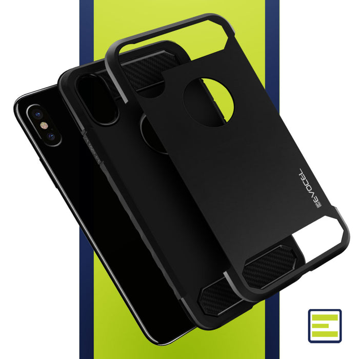 Evocel Apple iPhone XS Max Dual Lite Series Black Case
