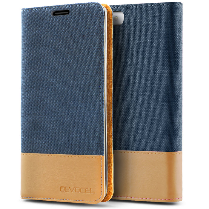 Evocel Apple iPhone 8 / iPhone 7 Folio Series Blue Case