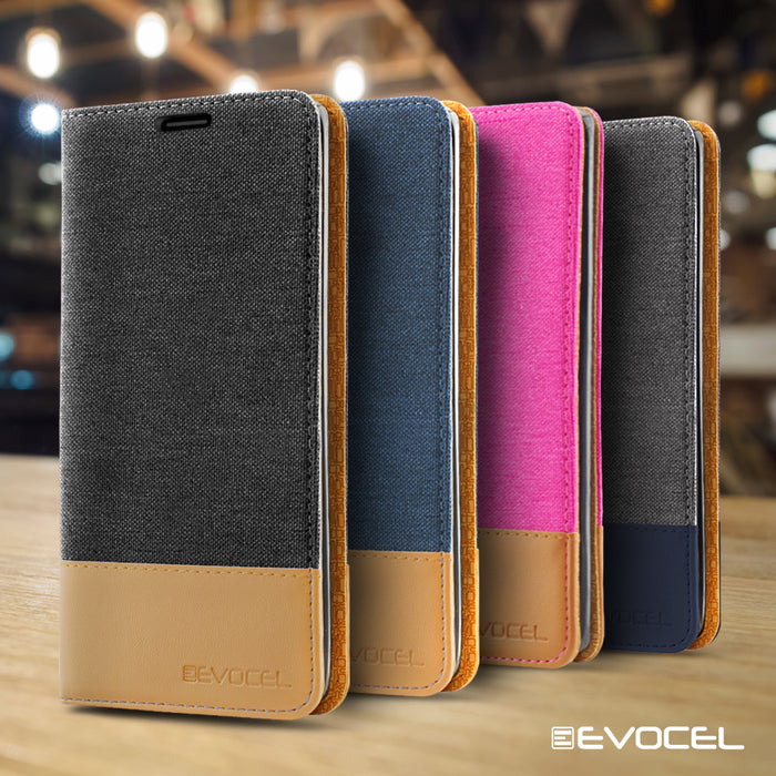 Evocel Apple iPhone 8 Plus / iPhone 7 Plus Folio Series Black Case