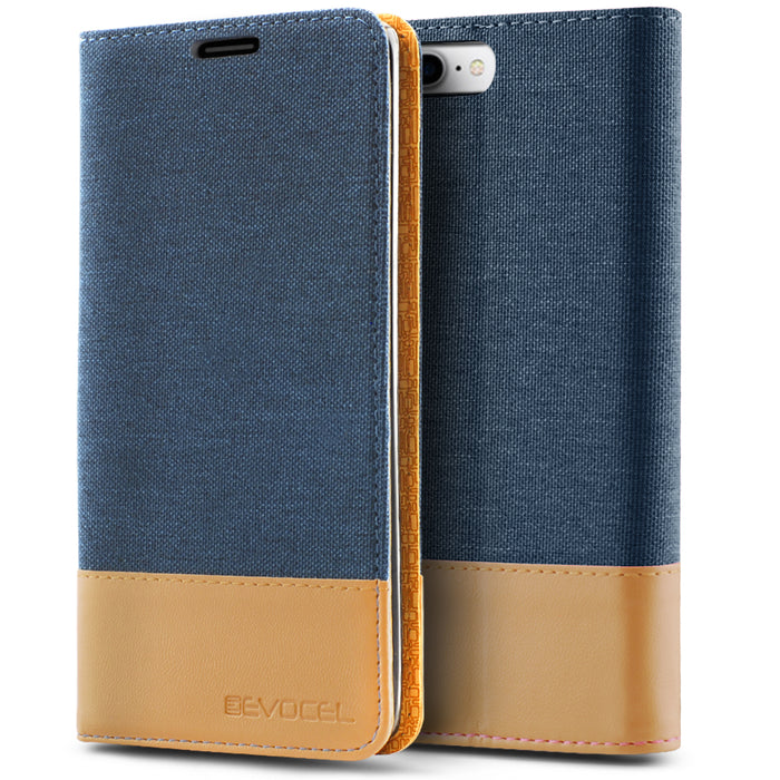 Evocel Apple iPhone 8 Plus / iPhone 7 Plus Folio Series Blue Case