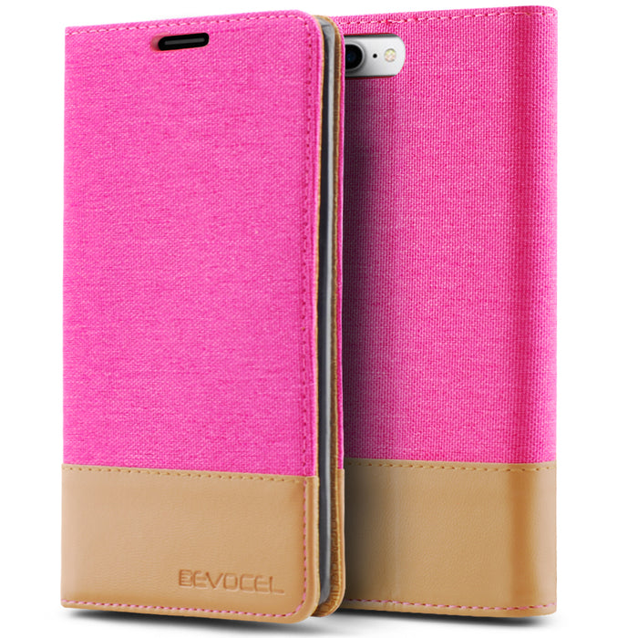 Evocel Apple iPhone 8 Plus / iPhone 7 Plus Folio Series Pink Case