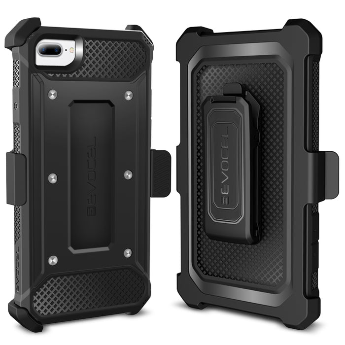 Evocel Apple iPhone 8 Plus / iPhone 7 Plus Explorer Series Black Case