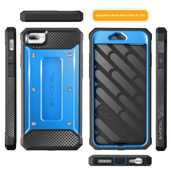 Evocel Apple iPhone 8 Plus / iPhone 7 Plus Explorer Series Blue Case