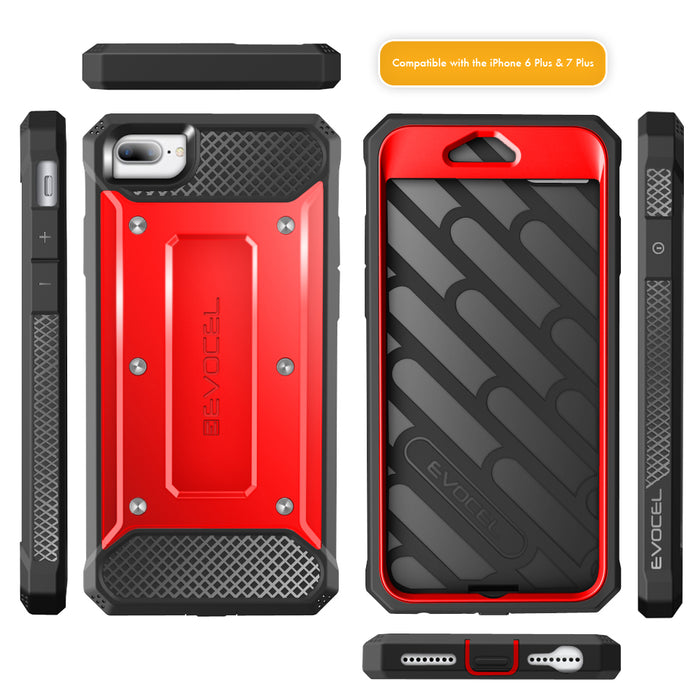 Evocel Apple iPhone 8 Plus / iPhone 7 Plus Explorer Series Red Case