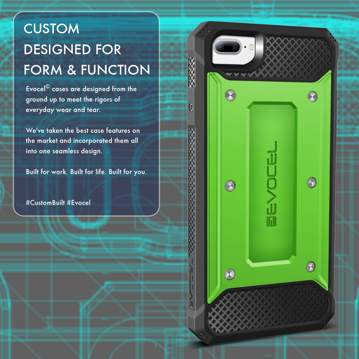 Evocel Apple iPhone 8 Plus / iPhone 7 Plus Explorer Series Green Case