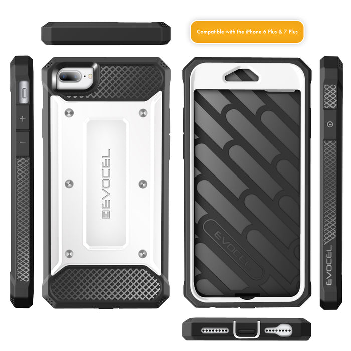 Evocel Apple iPhone 8 Plus / iPhone 7 Plus Explorer Series White Case