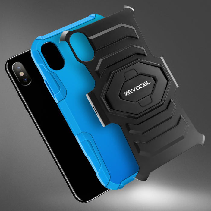 Evocel Apple iPhone X New Generation Series Blue Case