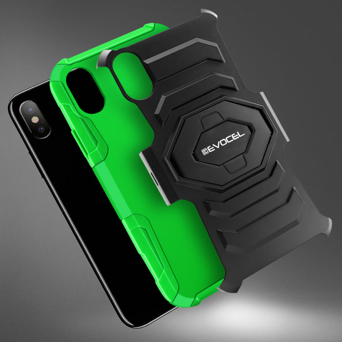 Evocel Apple iPhone X New Generation Series Green Case