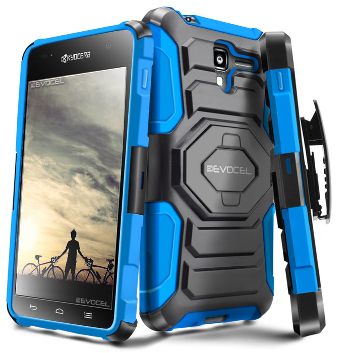Evocel Kyocera Hydro View New Generation Series Blue Case