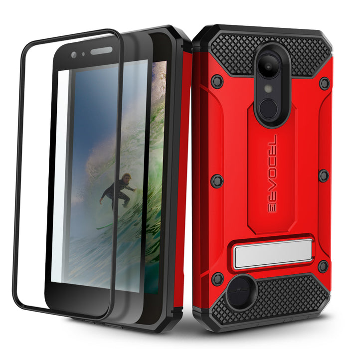 Evocel LG Aristo 2 Explorer Series Pro Red Case