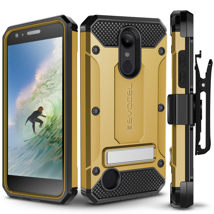 Evocel LG Aristo 2 Explorer Series Pro Gold Case