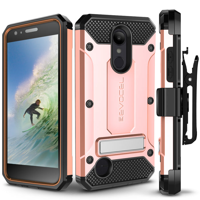 Evocel LG Aristo 2 Explorer Series Pro Rose Gold Case