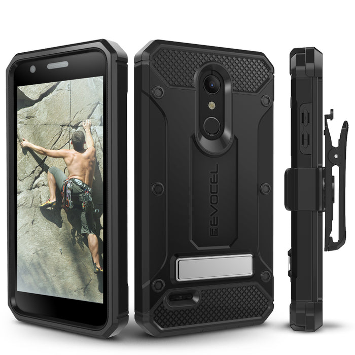 Evocel LG K30 / K10 (2018) Explorer Series Pro Black Case