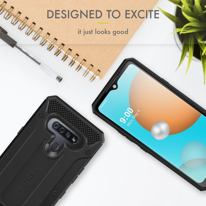 Evocel LG K51 Explorer Series Pro Black Case