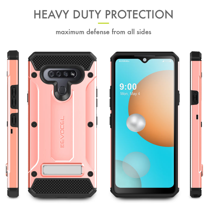 Evocel LG K51 Explorer Series Pro Rose Gold Case