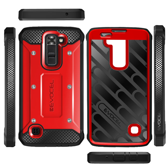 Evocel LG Tribute 5 Explorer Series Red Case