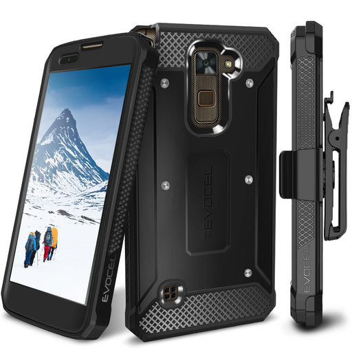 Evocel LG Stylo 2 Plus Explorer Series Black Case